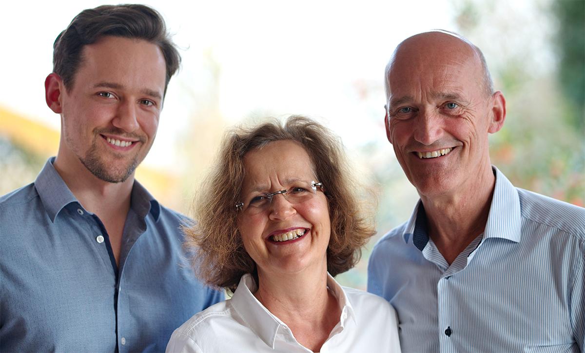 Foto von Finn Fleischhauer, Christine Fleischhauer und Dr. Michael Fleischhauer